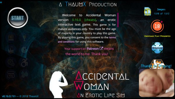 ThaumX - Accidental Woman [v0.16.0 Cheats]