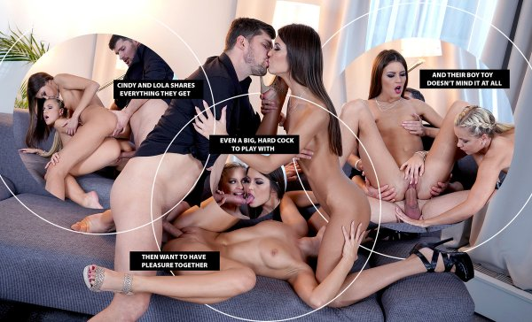Lifeselector - Dido Angel ,Tina Kay ,Katy Rose ,Kiki Minaj ,Lindsey Cruz ,Nelly Kent - Super Naughty Neighborhood