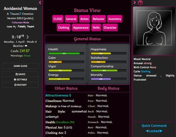 Accidental Woman Version 0.23.1 by ThaumX