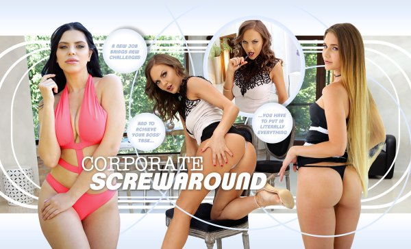 LifeSelector - Kira Queen ,Tina Kay ,Mary Rock - Corporate Screwaround